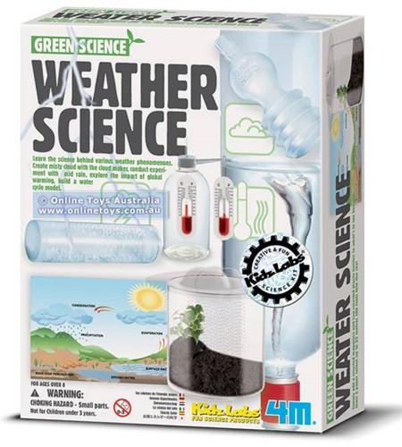 4MKidzlabsGREENSCIENCE:WEATHERSCIENCE,bestudeerdewetenschapachter weersfenomenen,opwarmingvandeaarde,hetontstaanvanmistigewolken,zure regen,...,metgedetailleerdeinstructies,doo