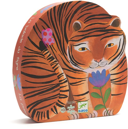 DJECO The tiger's walk 24 pcs - 25,6 x 25,7 x 6 cm