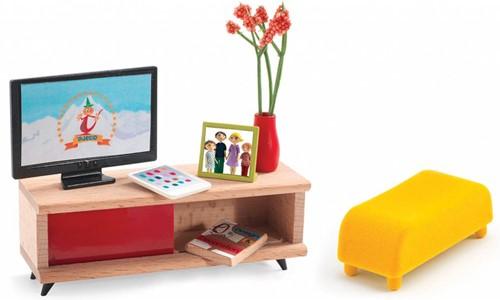 Djeco Maisons de poupées Le salon télévision