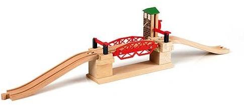 Brio Holz Eisenbahn Zubehör Hebebrücke 33757
