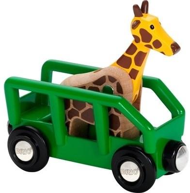 Brio Holz Eisenbahnwaggon Giraffenwagen 33724