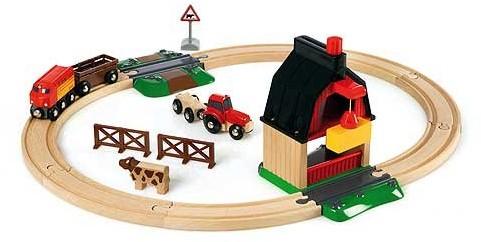 Brio Holz Eisenbahn Set Bauernhof Set 33719