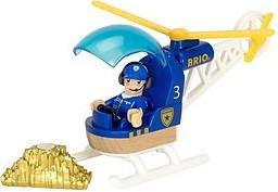Brio Holz Eisenbahn Zubehör Polizeihubschrauber 33828