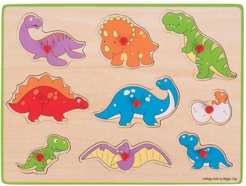 Bigjigs Lift Out Puzzle - Dinosaurs