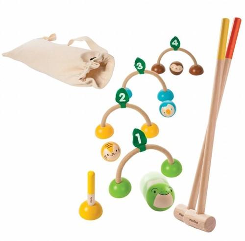 Plan Toys Holzspiel für Draußen Krocket 5189