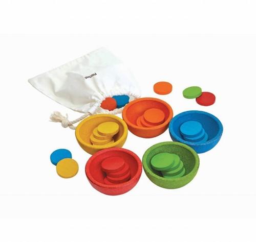 Plan Toys  Holz Kinderspiel Sortier- & Zählschalen 5360