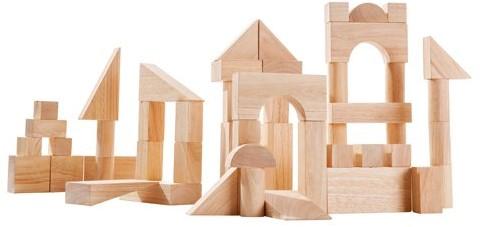 Plan Toys 50 Naturbelassene Holzbausteine