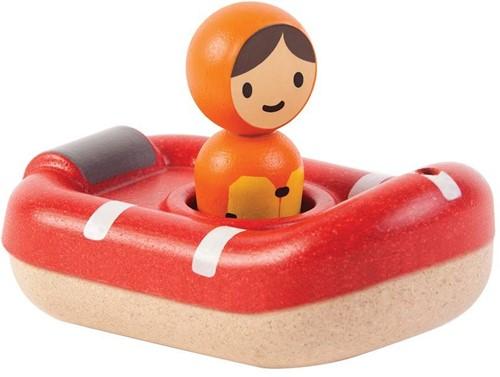 Plan Toys  Holz Badespielzeug Küstenwache Boot