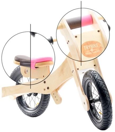 Trybike - Holz Laufrad Accessoires - Sattelbezug und Kinnschutz Rosa