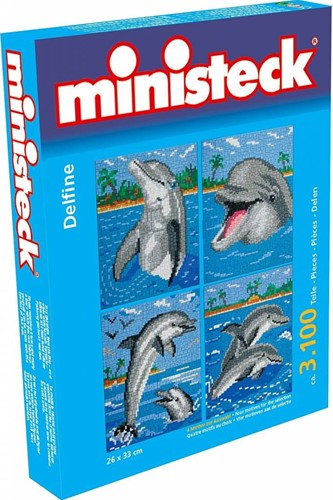 Ministeck Dolphin with backround 4in1 XL Box- ca. 3.100 pieces