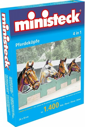 Ministeck Horse heads 4in1 XL Box - ca. 1.400 pieces