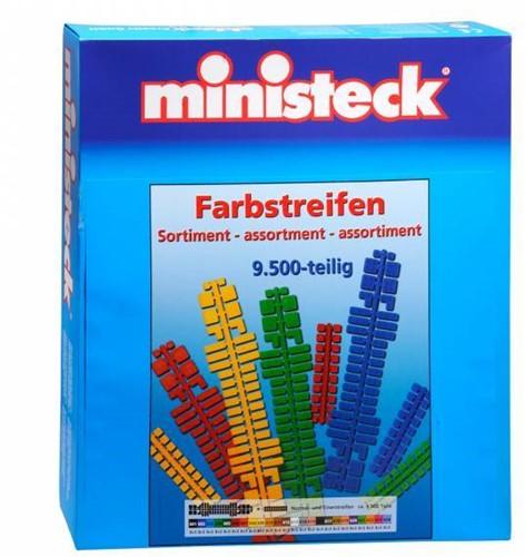 Ministeck Color strip assortment XXL Box - ca. 9.500 pieces