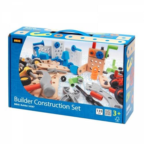 Brio Holz Konstruktionsspielzeug Builder box 135-tlg. 34587