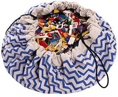 Play&Go 47.0009 Spielzeugaufbewahrung Toy storage bag Blau, Weiß Freistehend