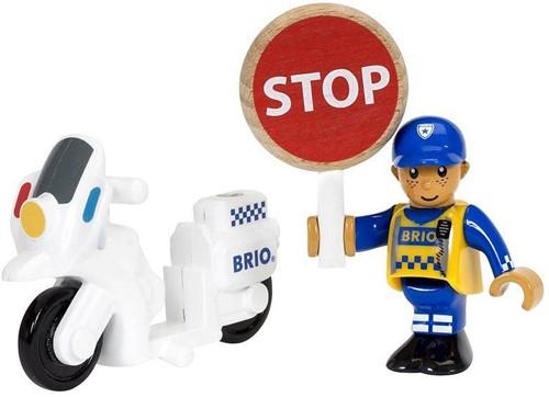 Brio Holz Eisenbahn Zubehör Motorrad-Polizist 33861