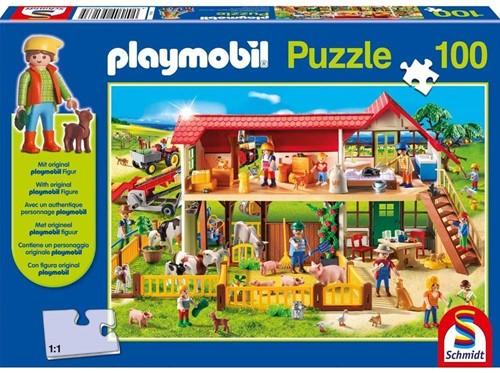 Schmidt Playmobil, Boerderij, 100 stukjes
