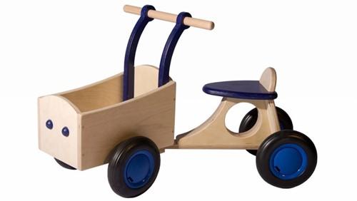 Van Dijk Toys Holz Lieferrad Blau - Birke