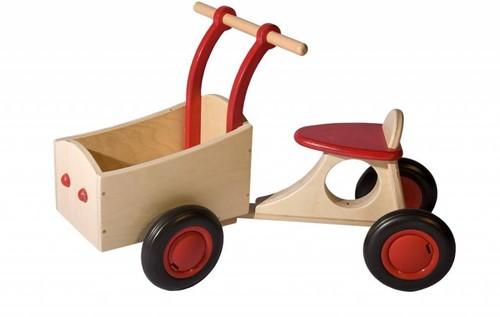 Van Dijk Toys Holz Lieferrad Rot
