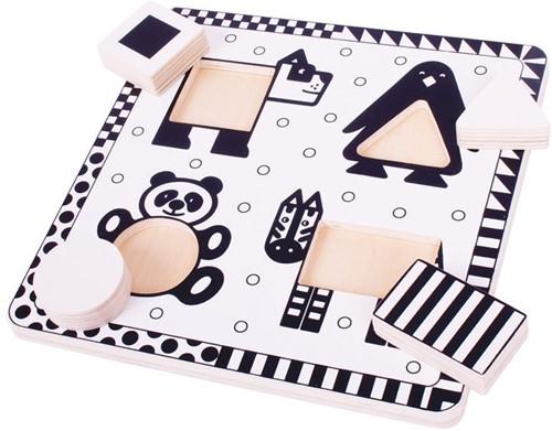Bigjigs Black and White Animals Puzzle